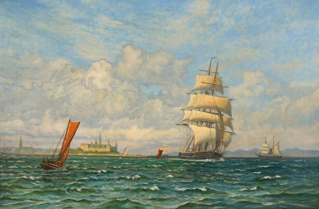 Three-Master in a Stiff Breeze, 1900