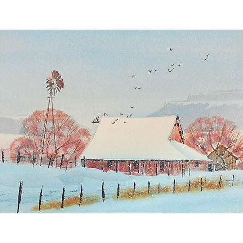 Winter Landscape, 1970s