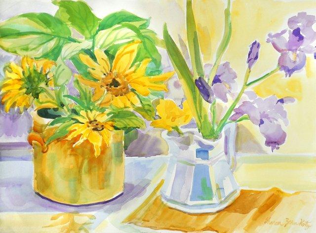 Sunflowers & Irises, 1980s