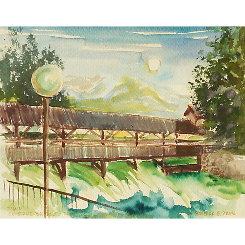 The Covered Bridge at Thun