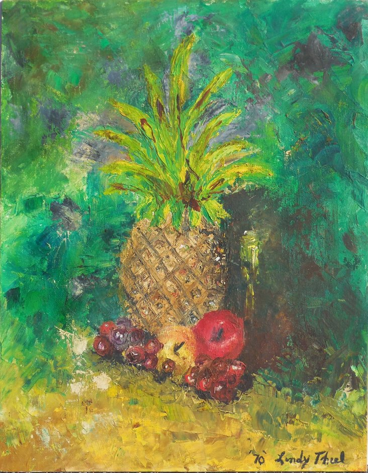 Still Life of Pineapple, 1970