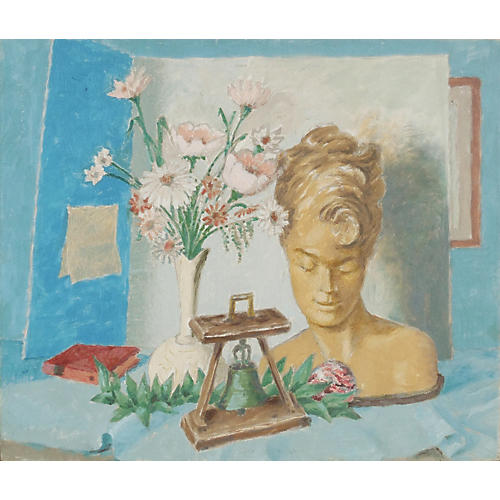 1950s Still Life with Bust