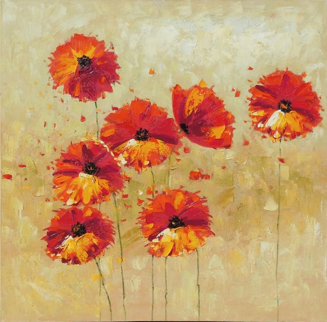 Large Oil of Poppies, 1975