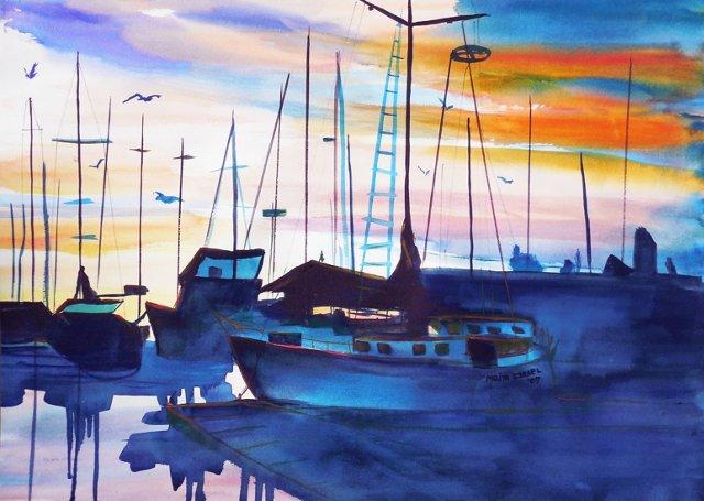 Sunset, Santa Cruz Harbor