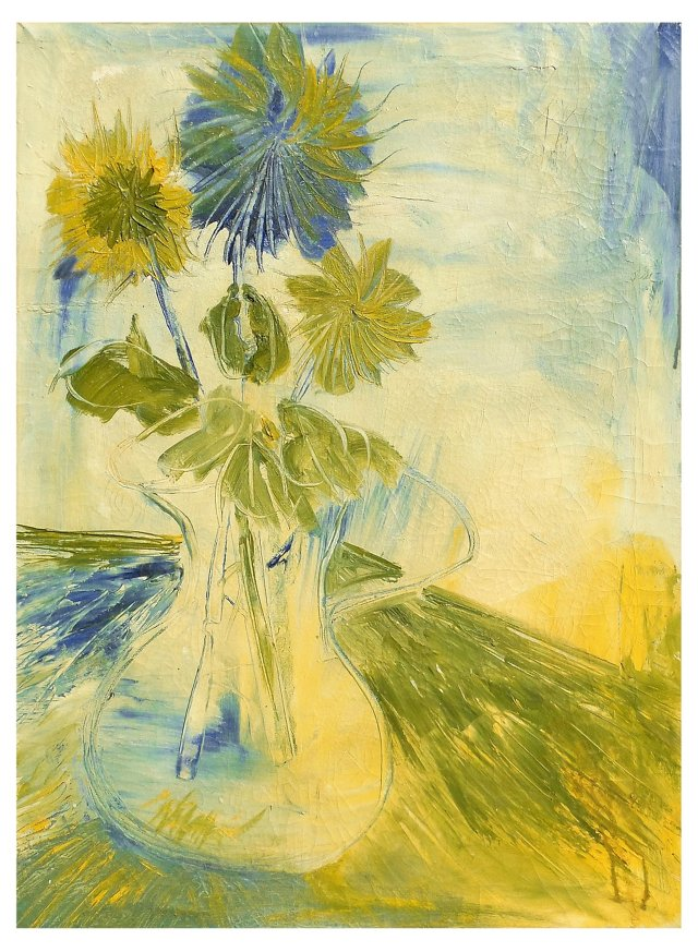 Large Still Life of Sunflowers, 1960s