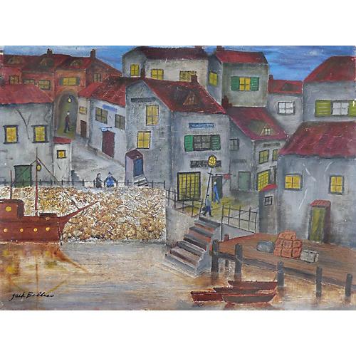 1950s Harbor Scene