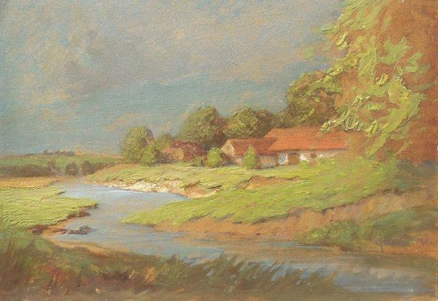 Hungarian Landscape by Komaromi-Kacz