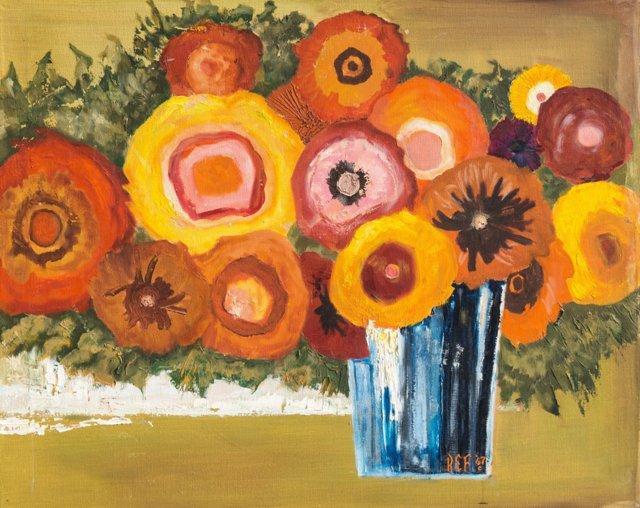 RL/Large Pop Art Floral, 1967