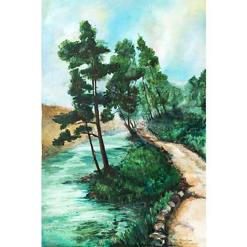 River Landscape by Art Terwilliger, 1973