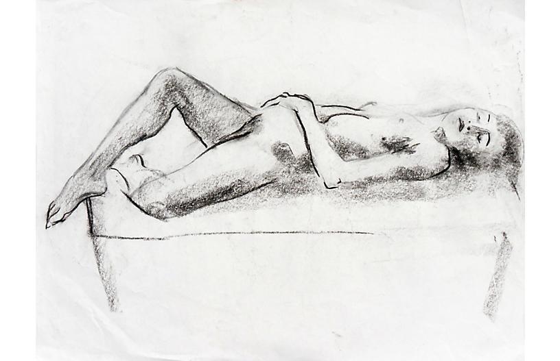 Reclining Nude by Michael Decker