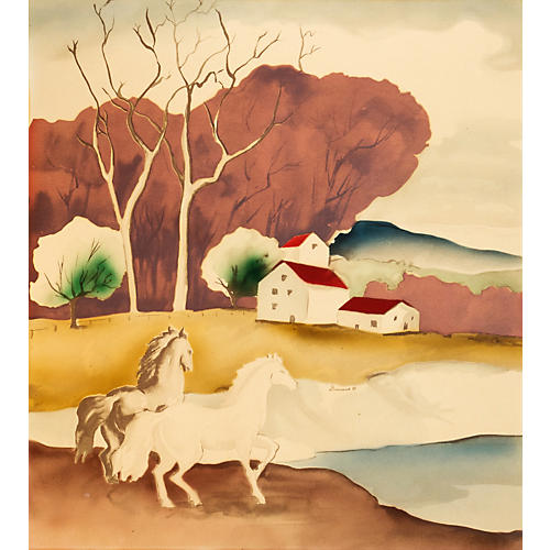 Horses in a Landscape, 1940s