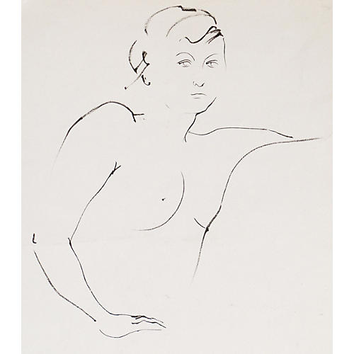 Nude Study by M. Decker, 1975