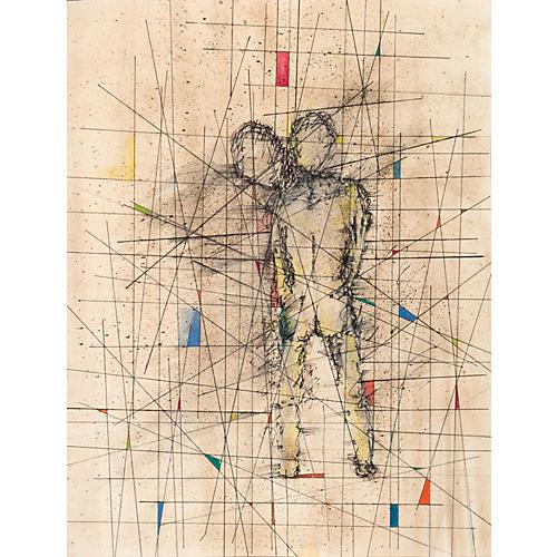 Modernist Figural Grid, 1955