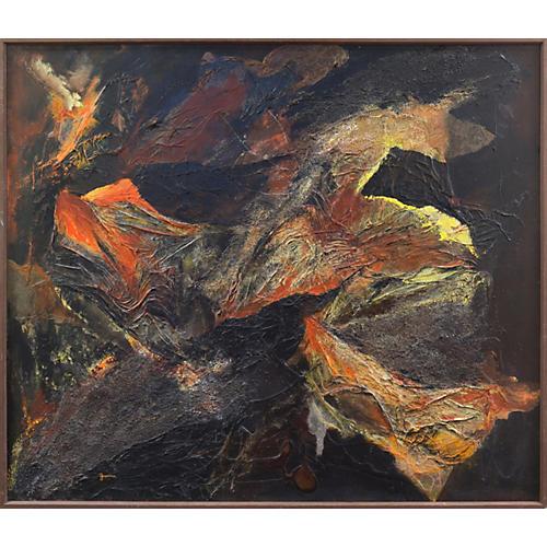 Ebony & Ochre Abstract, 1970