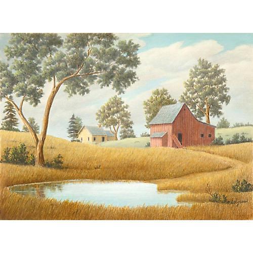 Idyllic Farm Landscape, 1965