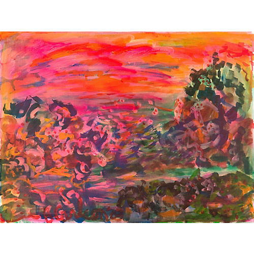 Sunset Landscape by Barbara Carlson