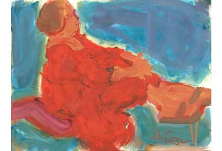 1950s Woman in Red by Victor Di Gesu