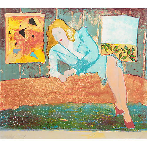 Woman Reclining in Interior