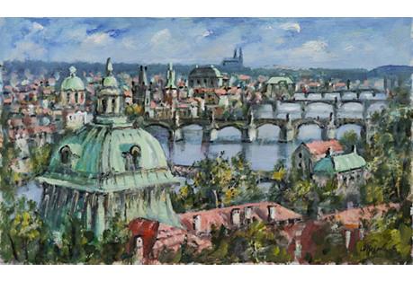 The Charles Bridge, Prague, L.D. Holmann