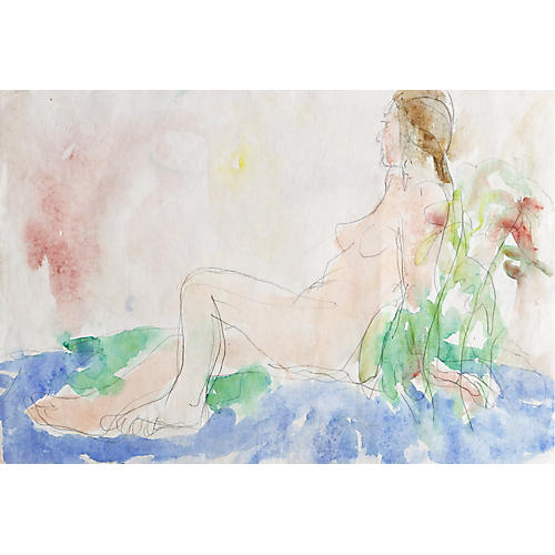 1950s Reclining Nude by Victor di Gesu