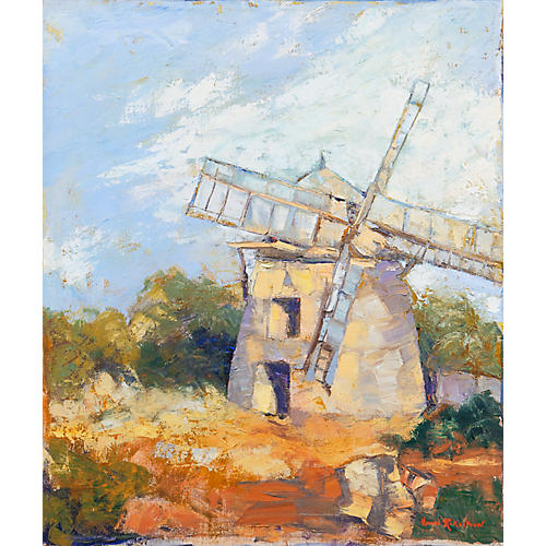 Dutch Windmill by Hazel Rokestraw