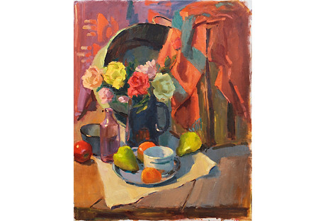 Roses & Fruit Still Life
