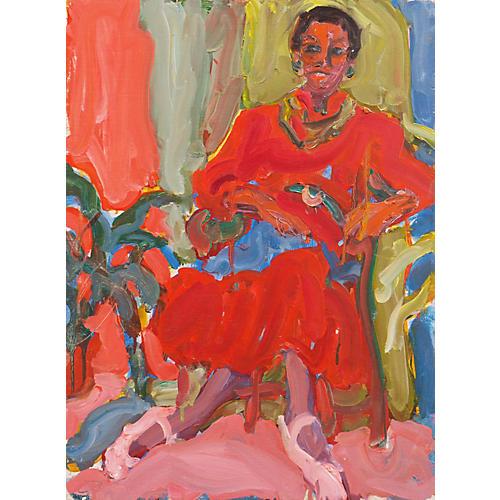 Seated Woman by Victor Di Gesu