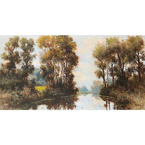Midcentury River Landscape