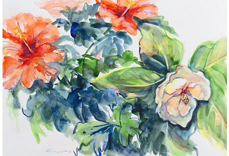 Hibiscus and Magnolia by Chiu-Ming Hay