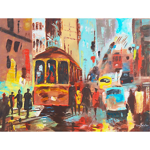 San Francisco Cable Car by Ann Teacher