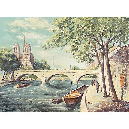 1960s Notre Dame & The Seine