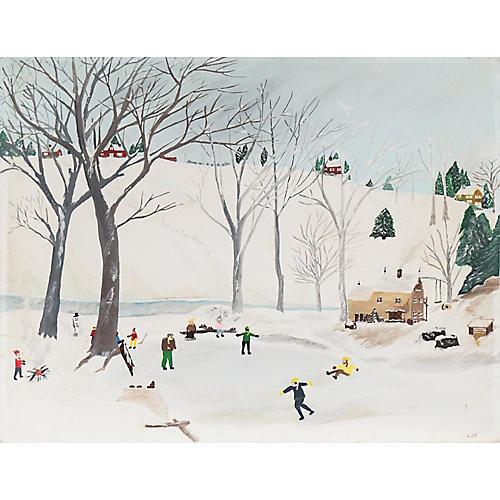1960s Winter Fun by L.D.A.