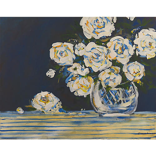 Modernist Still Life of Roses