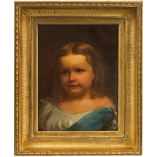 1870s, Portrait of a Young Girl