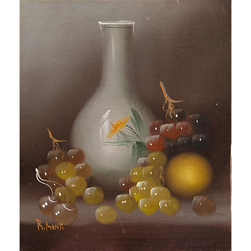 Still Life of Fruit & Vase