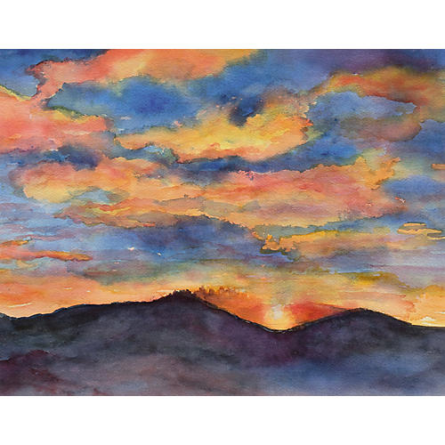 Taos Sunset by Victoria Peacock