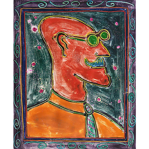 Man in Green Glasses by Dan May