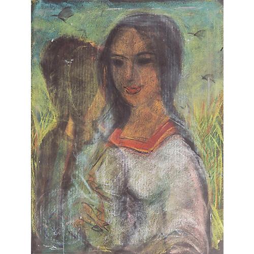 Young Woman by Carlos Lopez Ruiz, 1960