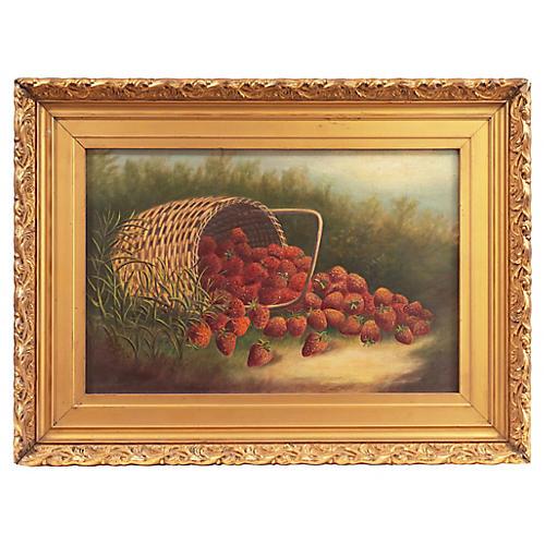 Basket of Strawberries, C. 1890