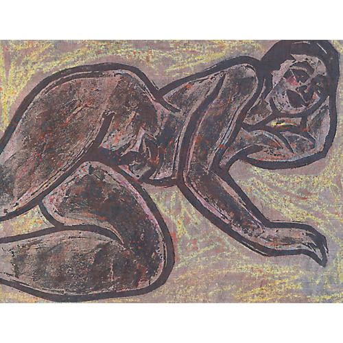 1950s Reclining Nude by Wedo Georgetti