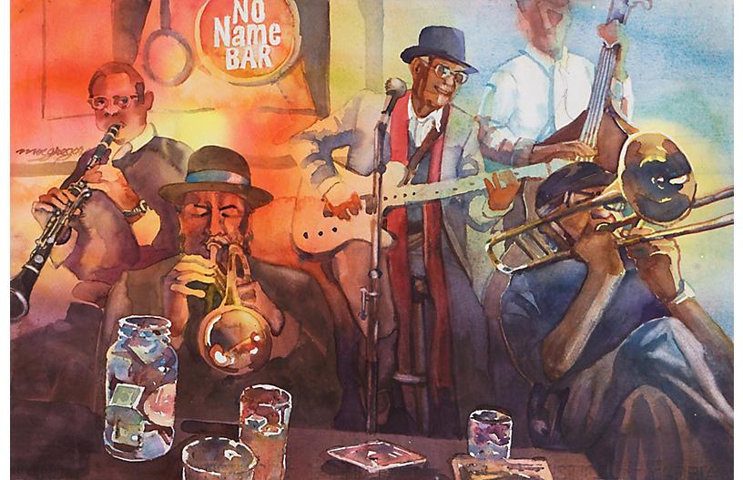 Jazz Quintet at the No Name Bar, C. 1980