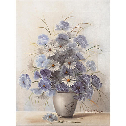 Still Life in Blue & White