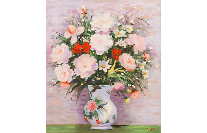 Still Life in Lilac & Rose