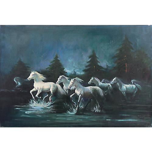 White Horses by Moonlight, 1970s