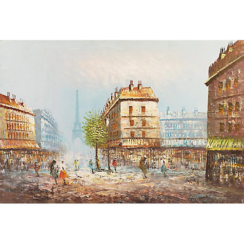 1970s Paris Street Scene