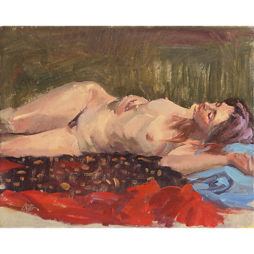 Reclining Nude by Craig Nelson, C. 1960