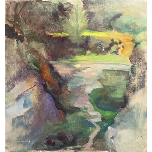 Springtime River, Whitman Loftus, 1987