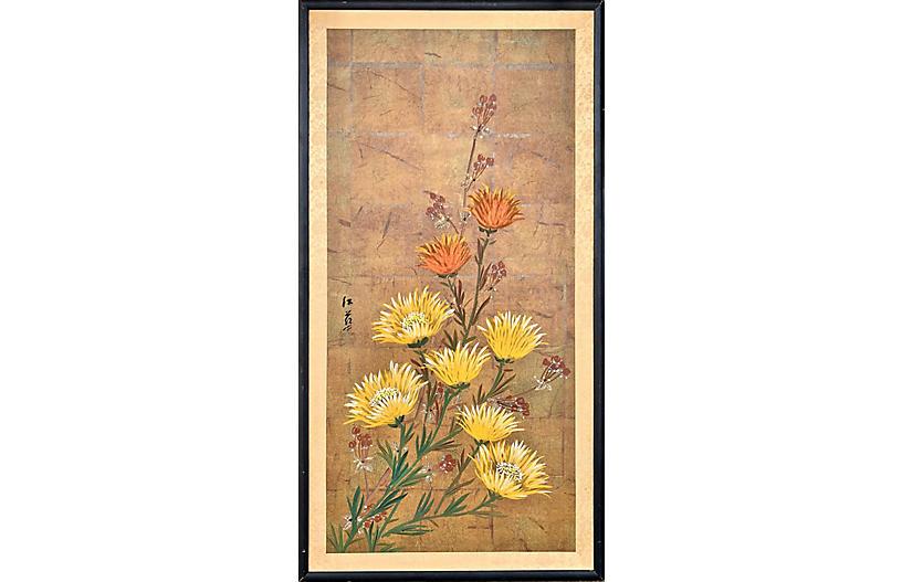 Yellow & Orange Chrysanthemums, 1960s