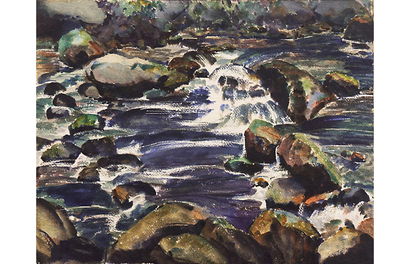 River Landscape,Edwin Knutesen, PAFA