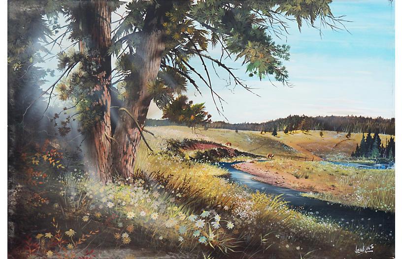 Large Sunlit Summer Landscape
